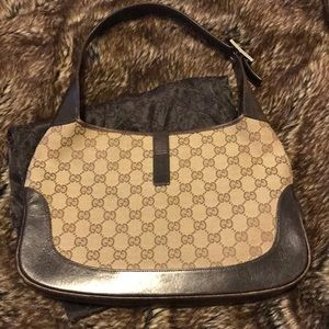 31486e64b Gucci Bags - GUCCI JACKYE - BROWN /TAN / GREY CANVAS /LEATHER💯